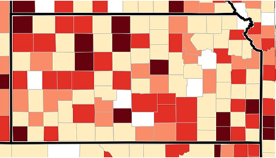 Opioid Prescribing Rate Kansas Counties